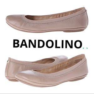 ad5b3efafc78 Bandolino Shoes - BANDOLINO Edition Tan Nude Leather Ballet Flats 8
